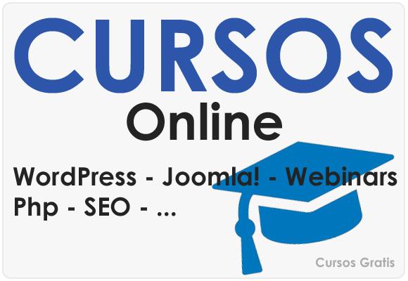 Cursos Online Joomla, WordPress, Php...