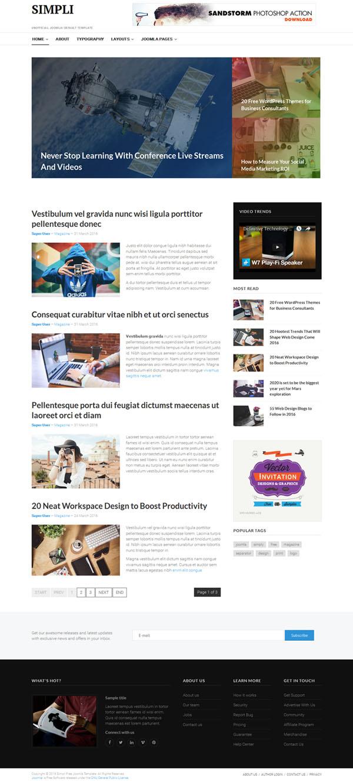 JA Simpli - Joomla Template - Consultoría y Desarrollo Proyectos Web