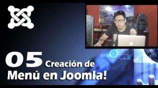 5. Creación de Menú en Joomla 3.5 / #05 Curso…