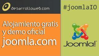 Alojamiento gratis en joomla.com y demo oficial #joomlaIO