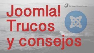 Trucos y consejos Joomleros #joomlaIO