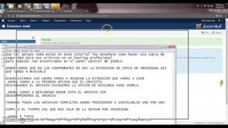 VIDEO II CURSO JOOMLA AKEEBA BACKUP