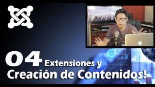 4. Extensiones, categorías y Artículos en Joomla 3.5 / #04 Curso Web para Empresas