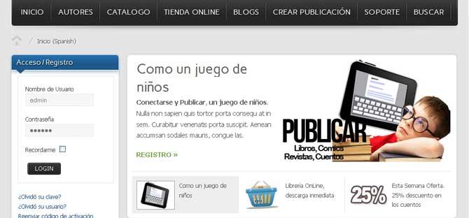 Componente publicación Libros online