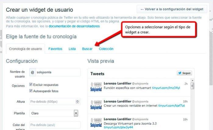 Como Instalar el Widget de Twitter en Joomla