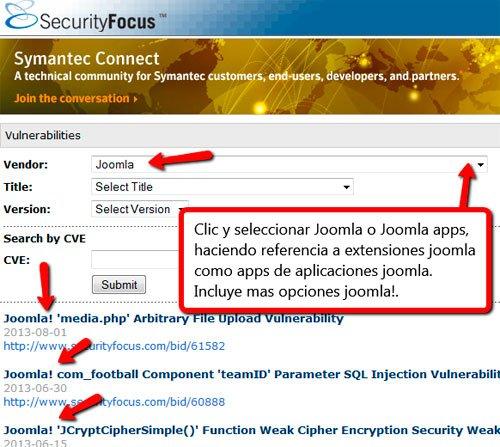 Seguridad Joomla y extensiones