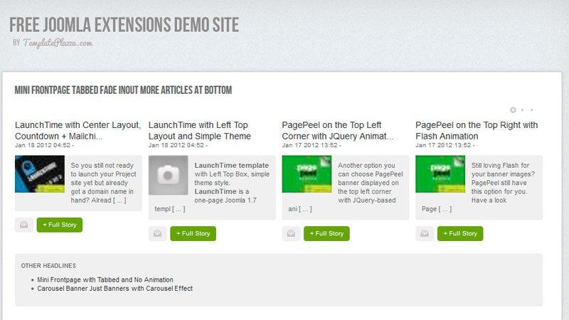 Modulo Mini Frontpage para versiones joomla