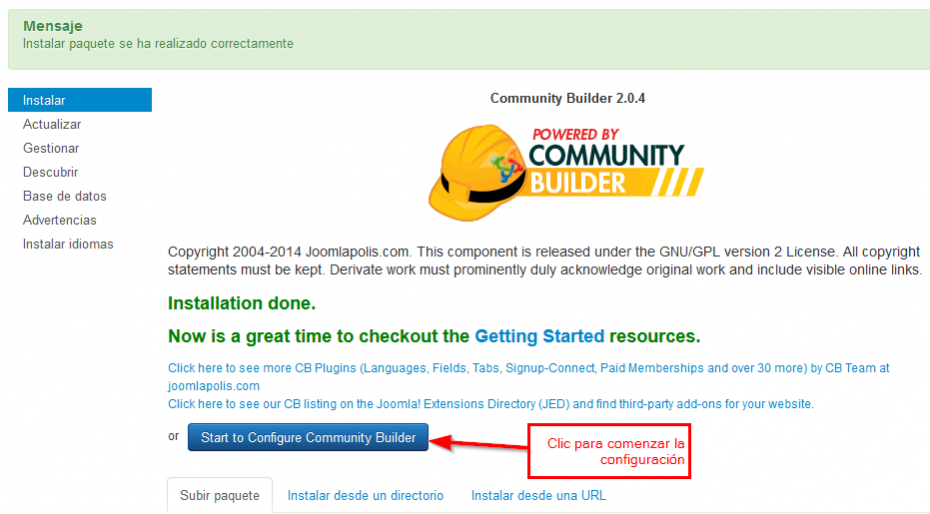 Tutorial Community Builder |  Joomla CB