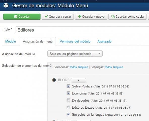 Como instalar y configurar el módulo Mini Frontpage