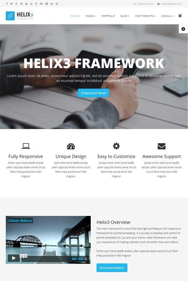 Joomla Framework Helix 3